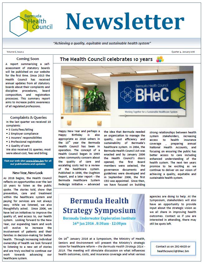 BHeC Newsletter Vol 6 Issue 4 160107
